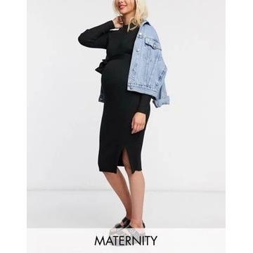 New Look sukienka sweterkowa czarna ciążowa 40 L