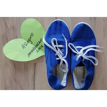 Fetysz buty używane trampki tenisówki niebieskie