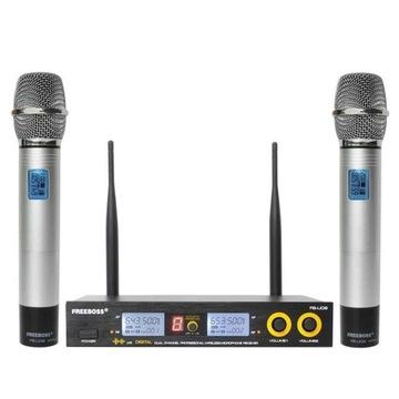 bezprzewodowy mikrofon dwukierunkowy UHF