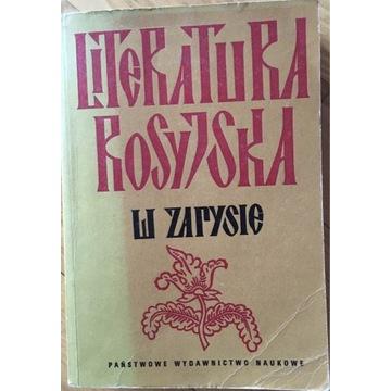Literatura rosyjska w zarysie