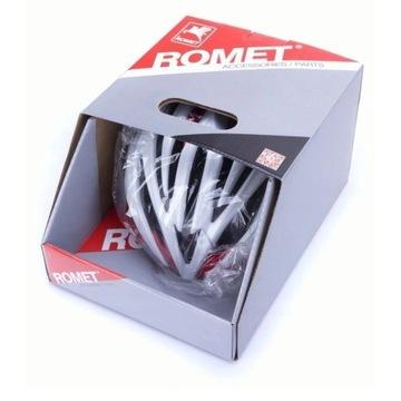 Kask rowerowy ROMET Czerwono-Biały S/M NOWY