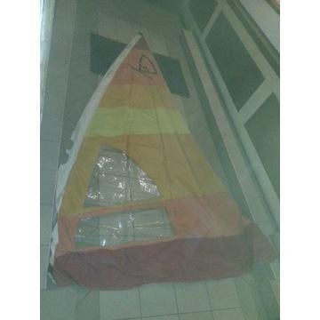 Żagiel windsurfingowy żółto-pomarańczowo-czerwony