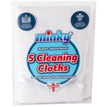 Minky Antibacterial 5 Cleaning Cloths