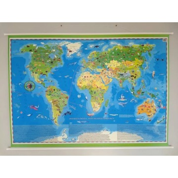 Zwierzęta Świata Mapa Młodego Odkrywcy ArtGlob