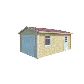 Garaż drewniany - PAWEŁ B 350x600cm 19m2