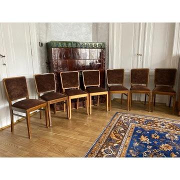 Krzesła tapicerowane 7 szt. lata 60/70 PRL