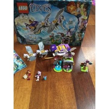 KOMPLETNY zesta LEGO Elves 41077 Sanie Pegaza Airy