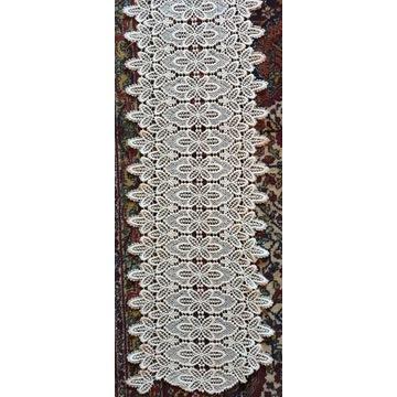 Stara, gipiurowa, gruba koronka,450cm firanka