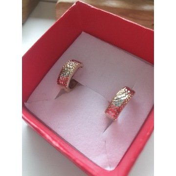 kolczyki grube kółka złoto 333 białe złoto Verona