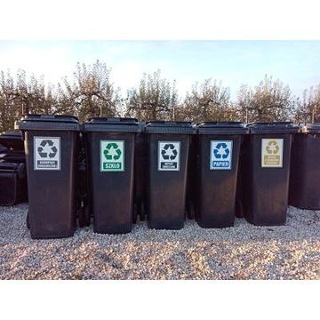 Pojemnik kosz kontener na śmieci odpady 140 L