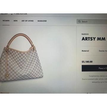 Louis Vuitton ARTSY MM torebka duża,na ramie ,skor