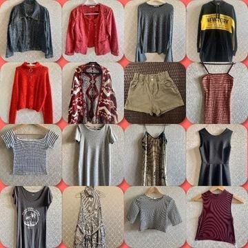 MEGA PAKA Modne Ubrania Sukienki Topy Kurtki S/M