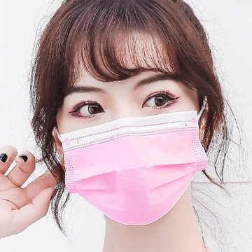 maska jednorazowa różowa 50 szt