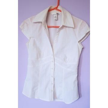 H&M roz 34 biała elegancka koszula