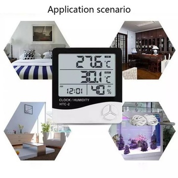 Cyfrowa stacja pogodowa LCD z alarmem od 1zł