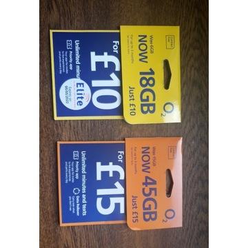 Karta O2 - 100GB na Europę (BEZ LOGOWANIA W UK!)