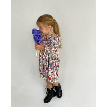 Sukienka dziewczęca Wiskoza 104/110 kwiatowa