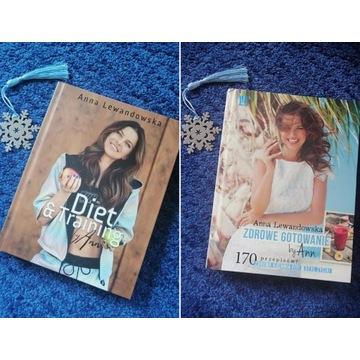 2 książki Anna Lewandowska - wsparcie FKN