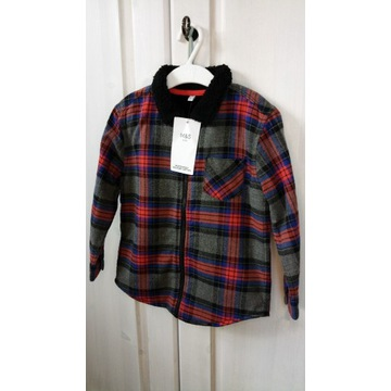 Koszula kratka ocieplana Marks & Spencer 104cm