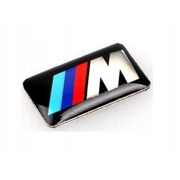 Znaczek NAKLEJKA Logo BMW M Power Felgi Kierownica