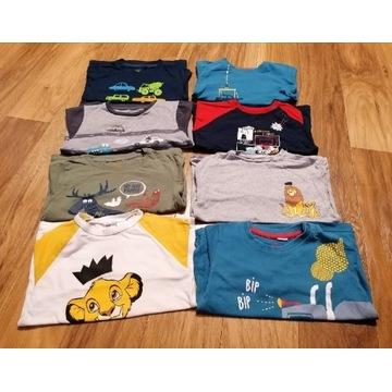 Bluzka, koszulki r 92, 8 szt Endo H&M Cool Club