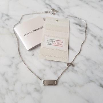 Emporio Armani naszyjnik srebrny 925