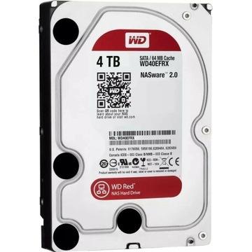 Dysk WD Red 4TB EFRX (CMR) NasWare 3.0 prod 01/20
