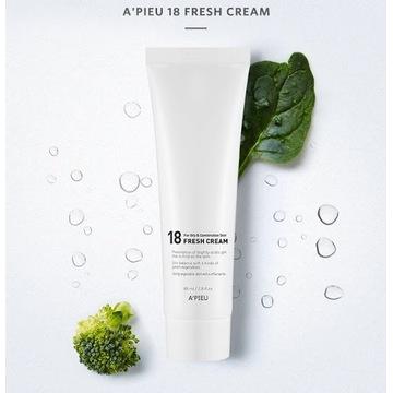 Koreańskie kosmetyki A'pieu Fresh Cream do twarzy
