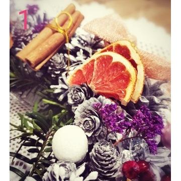 Stroik świąteczny na stół, ręcznie robiony