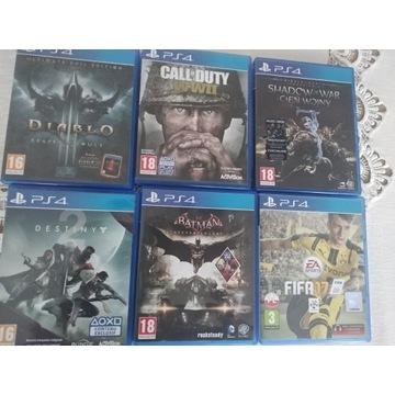 Pakiet 6 gier na PS4