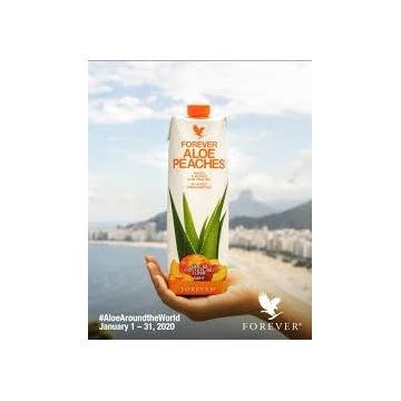 Forever Aloe Peaches nektar z aloesem 1l