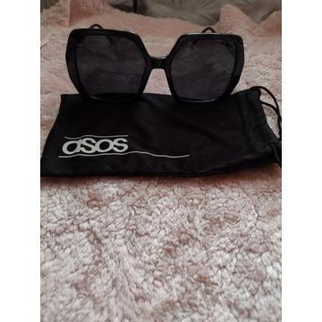 ASOS/Czarne okulary przeciwsłoneczne w etui/NOWE