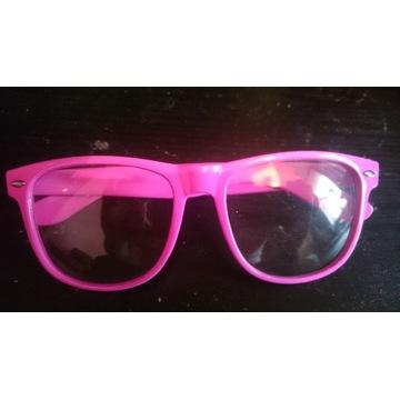 Okulary Nerdy zerówki kolor fuzja
