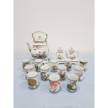 Franklin Mint Japoński zestaw do herbaty
