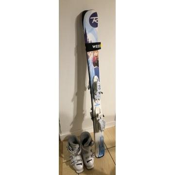Narty 122cm oraz buty 20.5cm (32) - Kraina Lodu