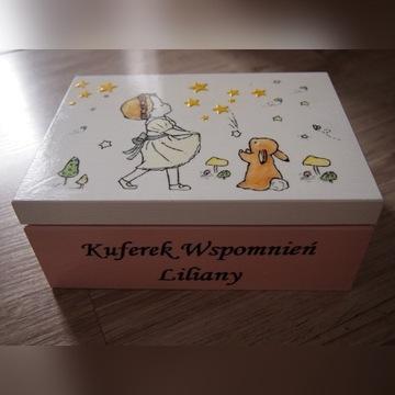 Kuferek wspomnień pudełko Chrzest Roczek Narodziny