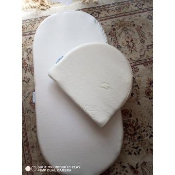 Materac piankowy wózka gondoli + Poduszka gratis