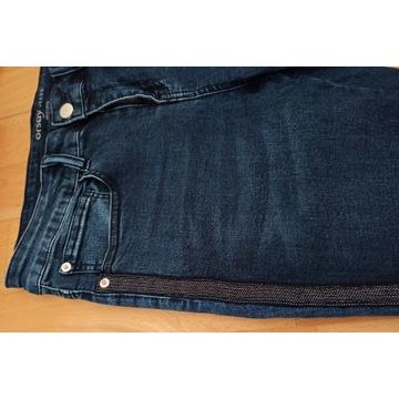 Orsay spodnie jeans damskie r.40  granatowe