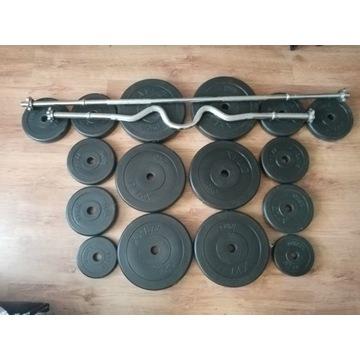 Obciążenie XYLO do treningu - 80 kg + 2 gryf