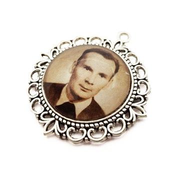 Zawieszka Medalion do Bukietu Ślubnego do Ślubu