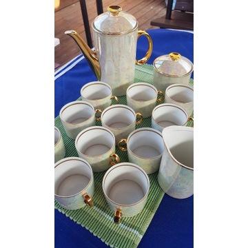 Porcelanowy zestaw kawowy PRL