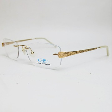 LINEA ROMA Jade 3 cA oprawki okulary złote zerówki