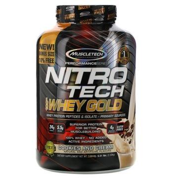 MUSCLETECH NITRO TECH 100% WHEY GOLD 2510G PROTEIN