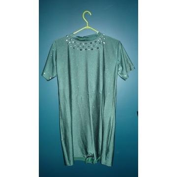 kostium artystyczny 180 cm, zielony brokat, lycra