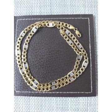 Złoty łańcuszek Figaro próba 585