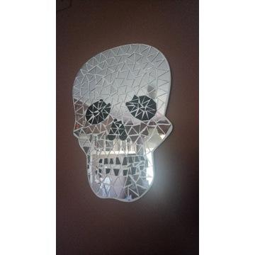 Lustro mozaikowe w kształcie czaszki unikat