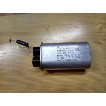 Kondensator z mikrofalówki 1uF 2100VAC CH85-21100