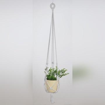 Kwietnik ze sznura bawełnianego na kwiaty MAKRAMA