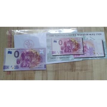 Banknot 0 Euro 100 rocznica bitwy warszawskiej