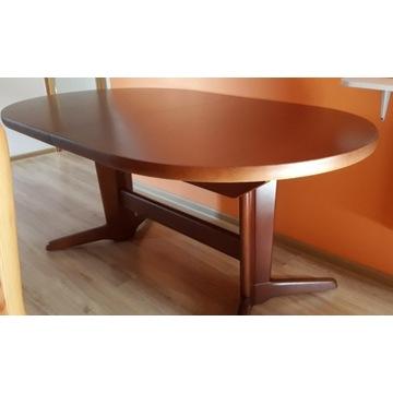 Stół Owalny DUŻY Drewno Buk Rozkładany NOWY